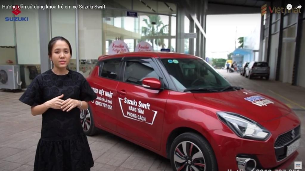 huong dan su dung khoa tre em Suzuki Swift